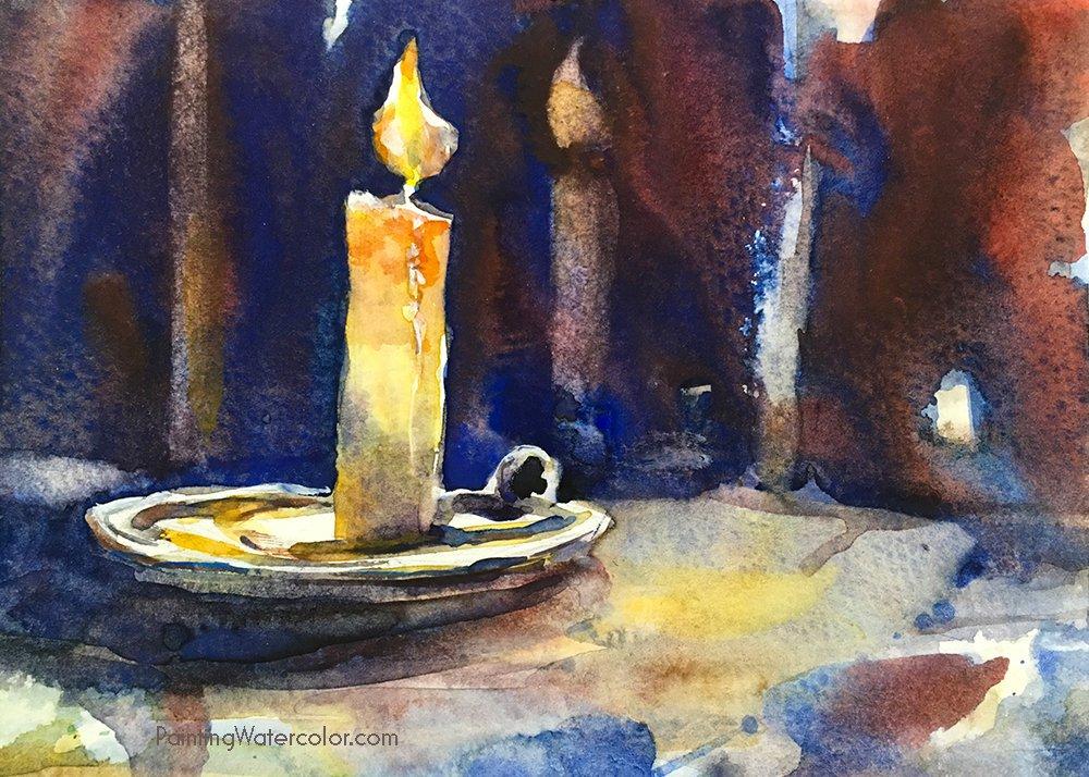 DIY Christmas Card candle
