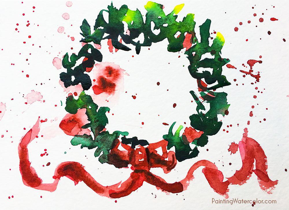 DIY Christmas Card wreath