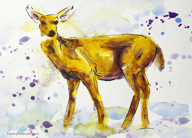 DIY Christmas Card deer